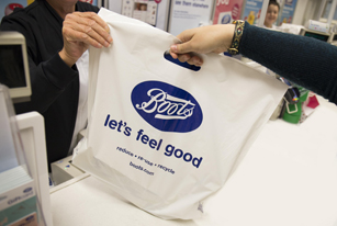 Carrier bags at Boots UK